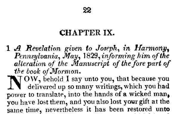 1833 Book of Commandments