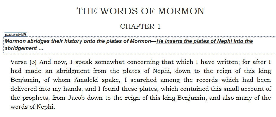 Joseph Smith on Trial — THE WORDS OF MORMON