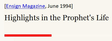 Highlights in the Prophet's Life